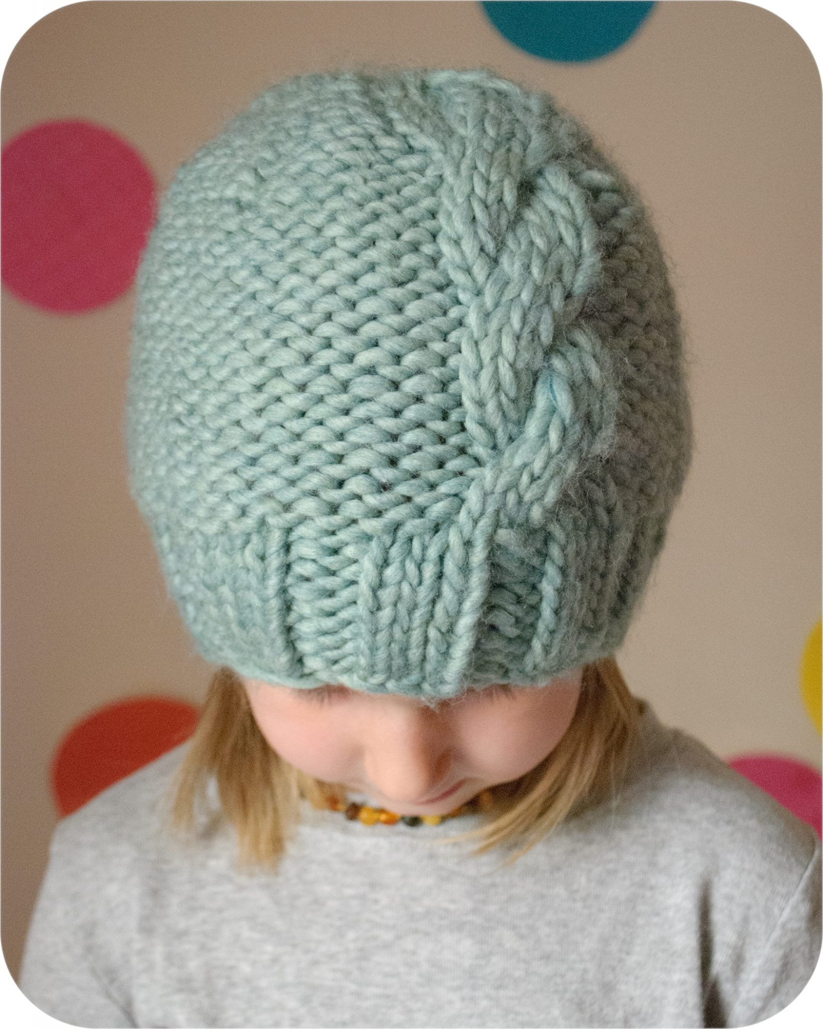 French Knitting Patterns : The French Twist Hat PDF Knitting Pattern   The Eli Monster