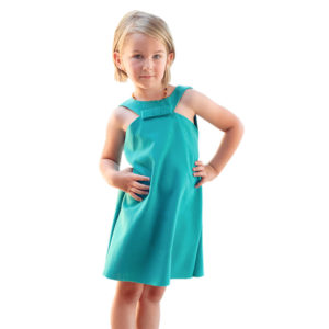 Forget about rounded arm holes when you can sew up this sassy little summer dress.