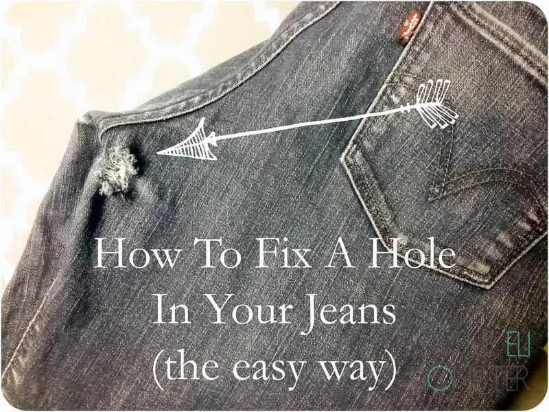 How to patch jeans the easy way