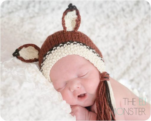 Newborn Fox Bonnet Knitting Pattern