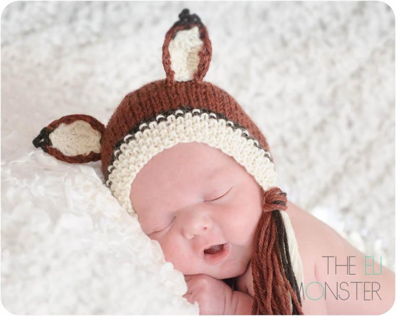 The Vos Bonnet PDF Newborn Knitting Pattern