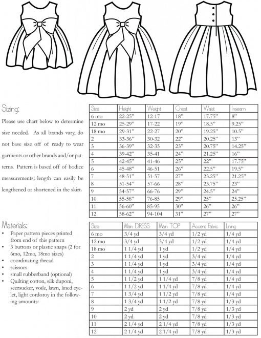 The Wunderschon Dress PDF Sewing Pattern