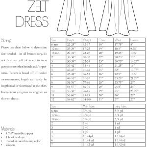 The Zelt Dress PDF Sewing Pattern Girls