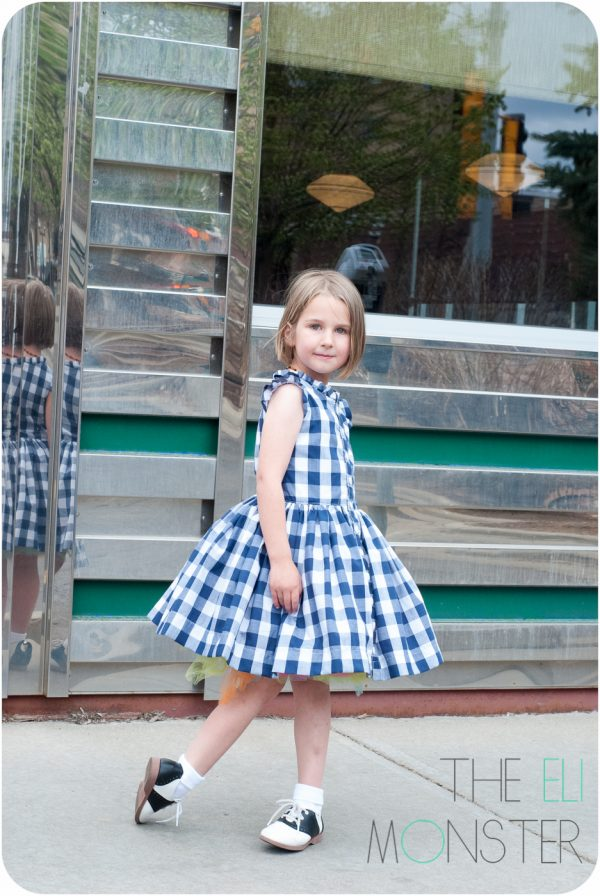 Girl in vintage styled dress