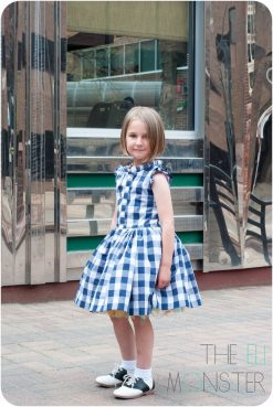 Girl modeling retro dress