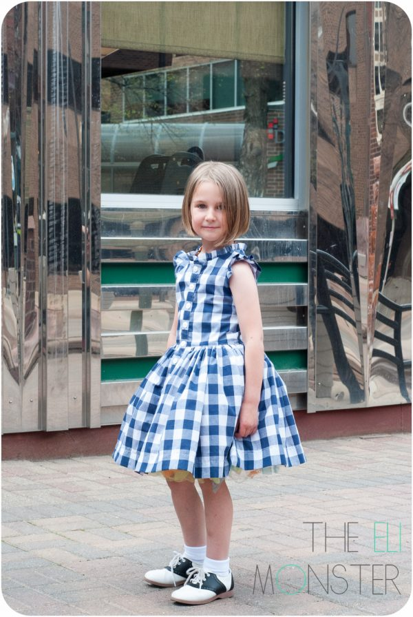 Girl modeling retro dress