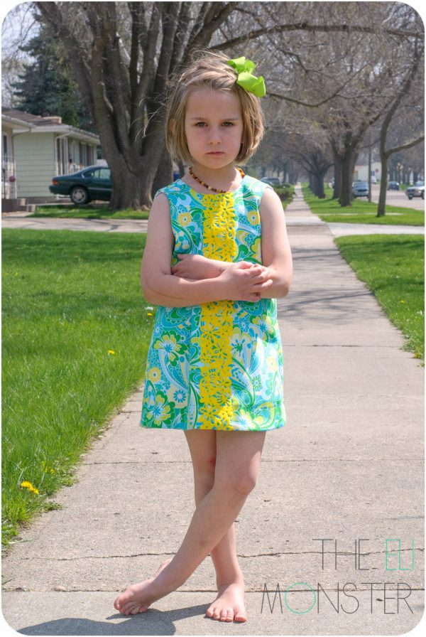 Child wearing The Tropisch Dress Sewing Pattern