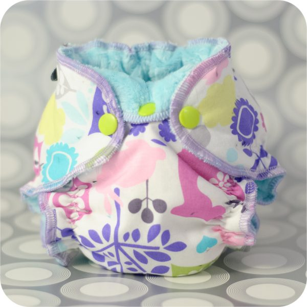 A newborn fitted cloth diaper