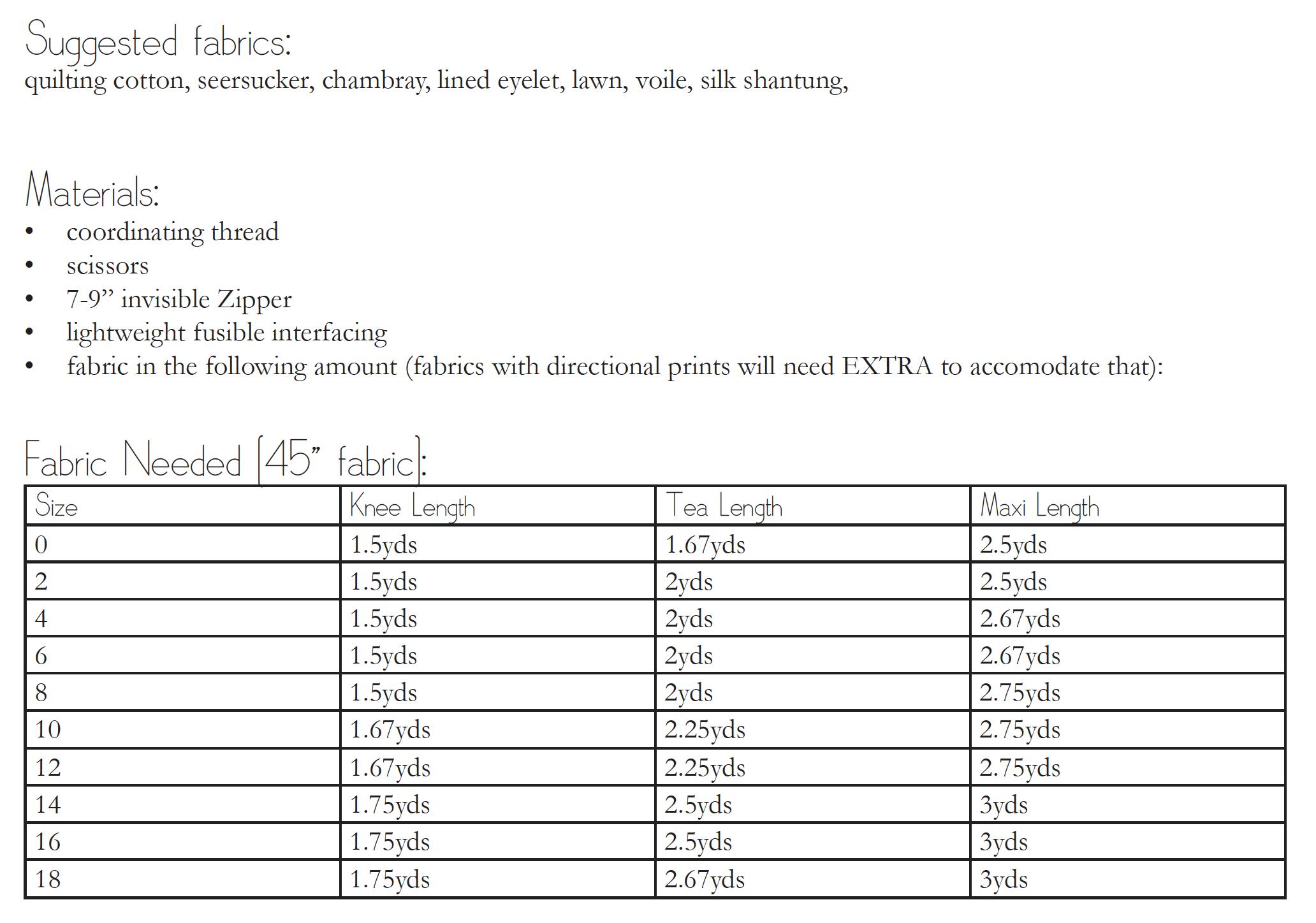 The Zak Skirt Materials