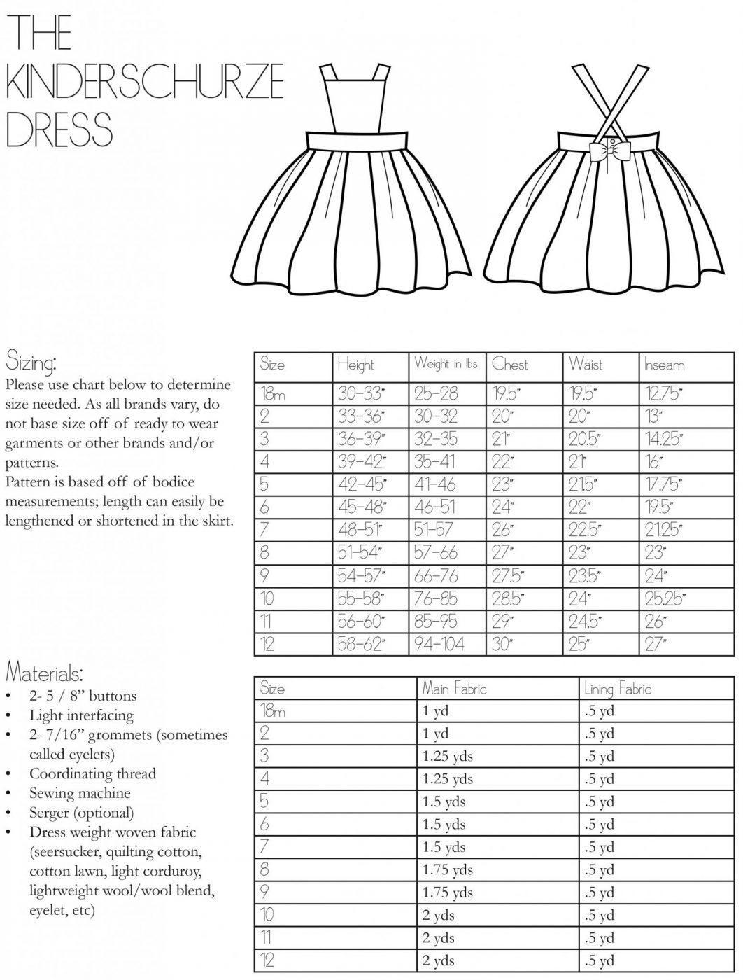 The Kinderschürze Dress Sewing Pattern