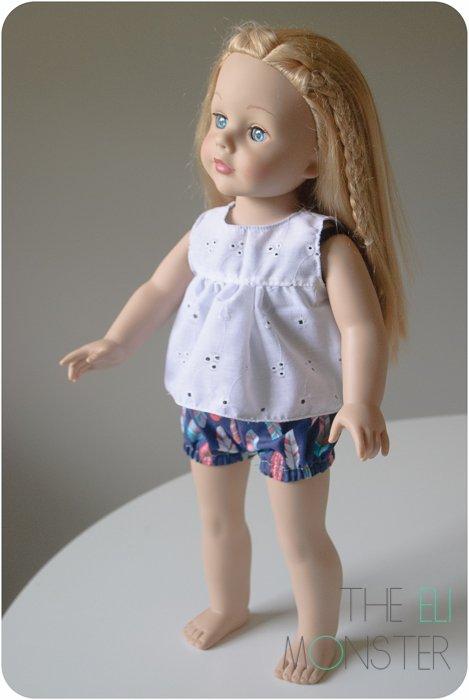 doll bubble shorts sewing pattern