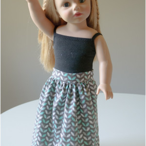 Sewing Pattern for Doll Skirt