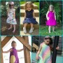 Collage of finished Kosmos Dresses