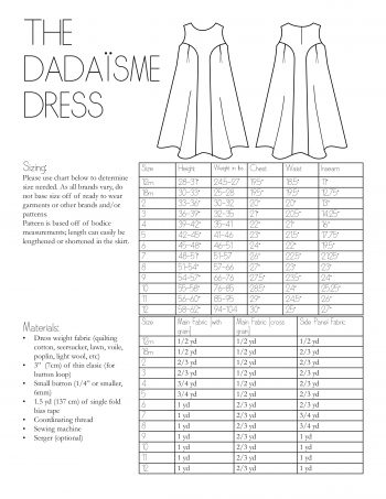 The Dadaïsme Dress Information