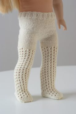 The The Doll Tights Knitting Pattern Modeled