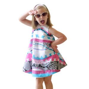 girl wearing the zelt dress