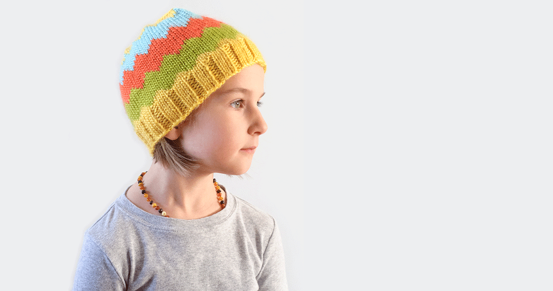 The Citron Chevron Hat