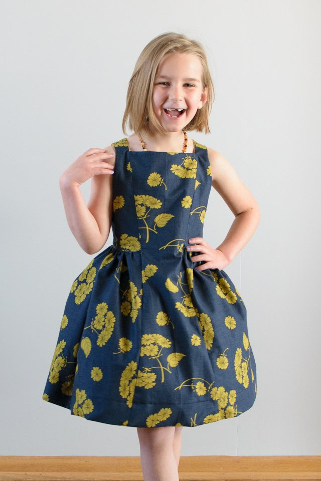 The Spelen Sleeveless Party Dress Sewing Pattern for Girls