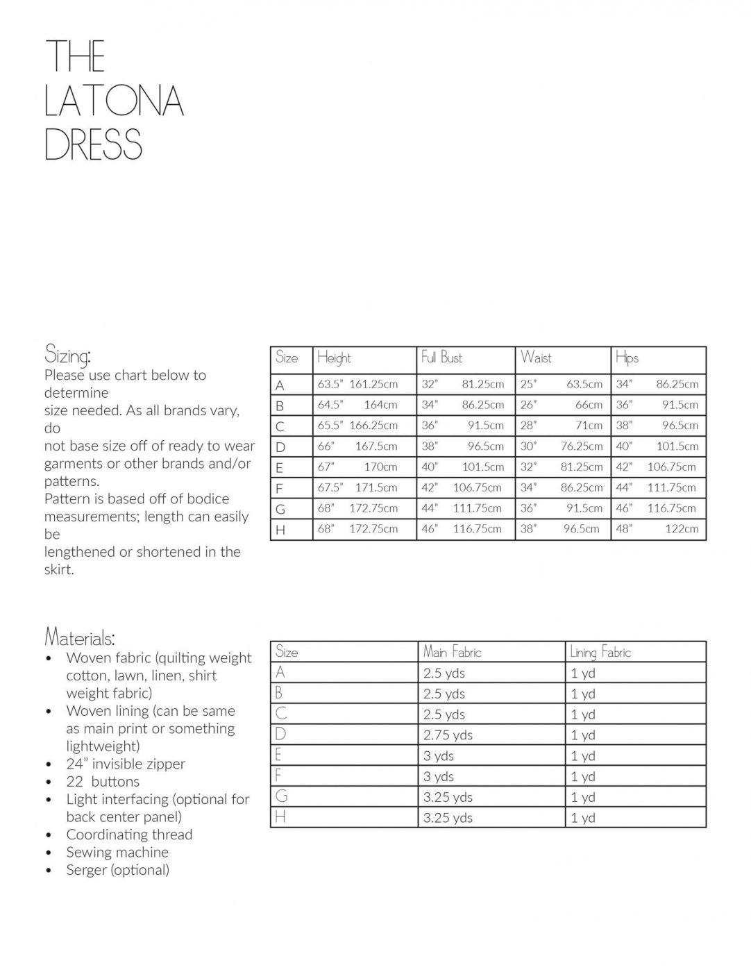 The Latona Dress PDF Sewing Pattern-Teen and Adult Sizes