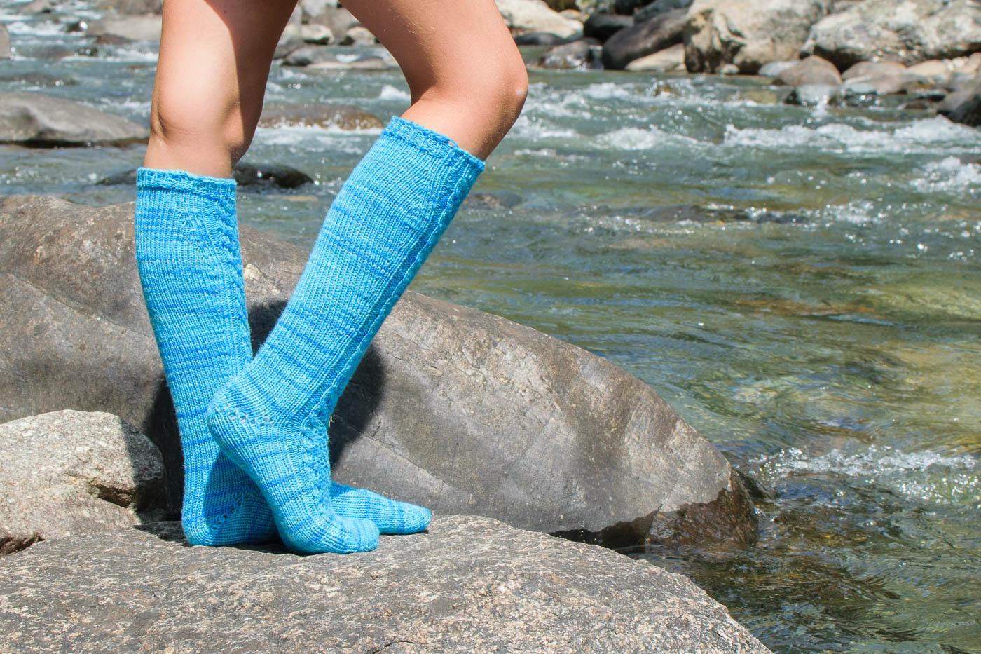 The Skola Socks knitting pattern