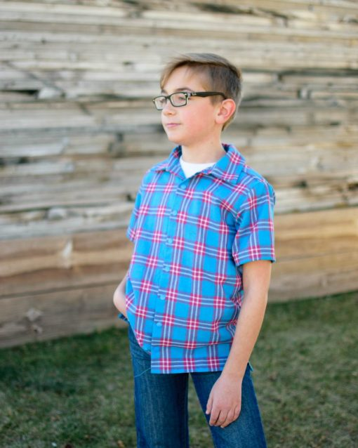 camp shirt pdf sewing pattern for boys