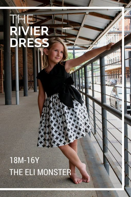 The Rivier wrap dress sewing pattern and tutorial main image