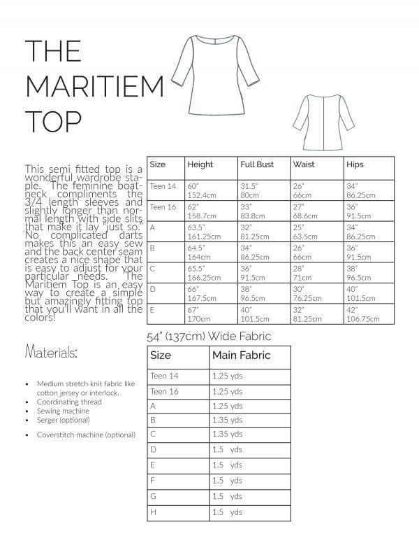 Maritiem Tee Information