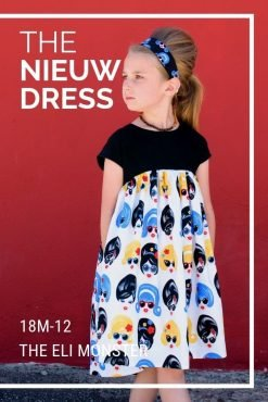 Modern sewing pattern for girls