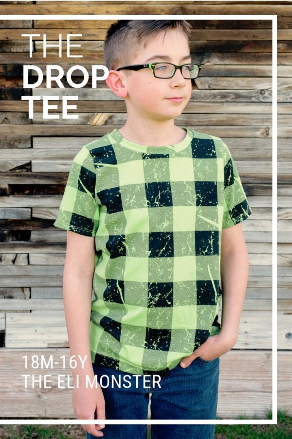 The Drop Tee Tshirt Sewing Pattern cover