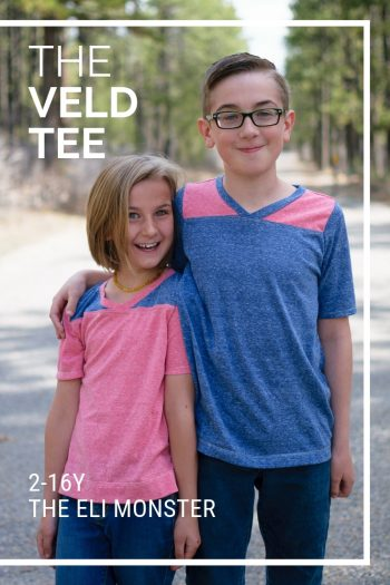 The Veld Tee shirt sewing pattern cover