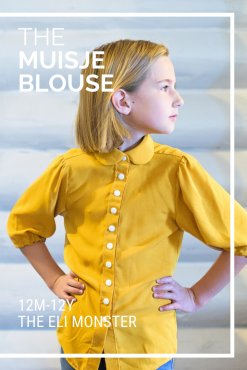 the muisje blouse pdf sewing pattern cover