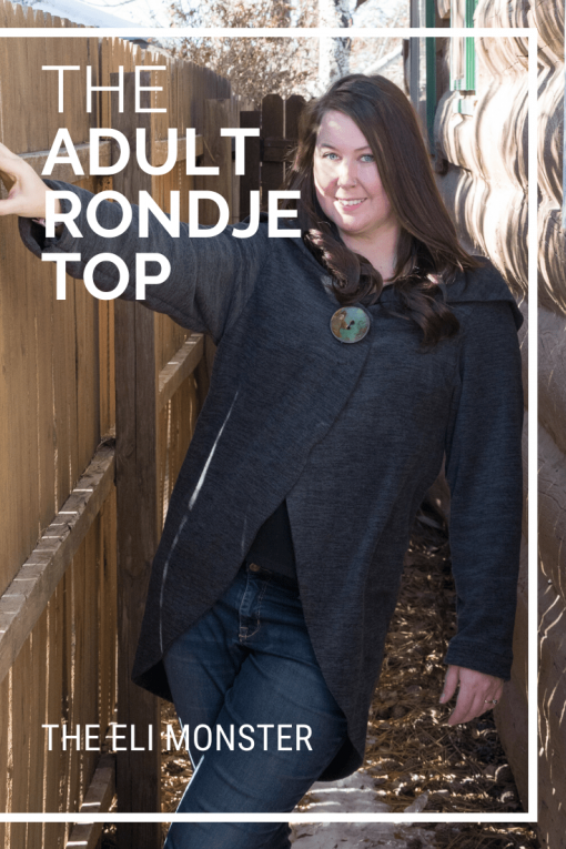 Cover for The Rondje Top cardigan sewing pattern