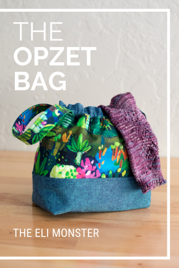 Project bag sewing pattern cover image