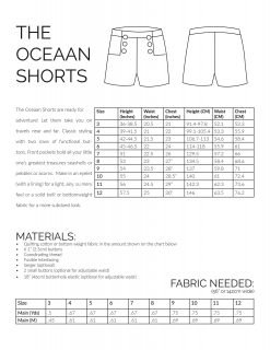The Oceaan Shorts Sewing Pattern Information Image