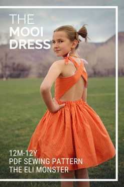 the mooi dress sewing pattern cover image