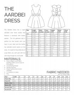 The Aardbei Dress sewing pattern information page