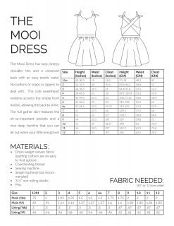 The mooi dress sewing pattern information page