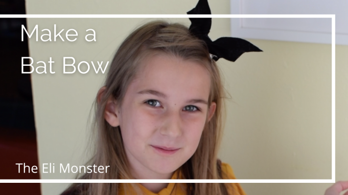 Make a Bat Bow Halloween Tutorial Cover Image