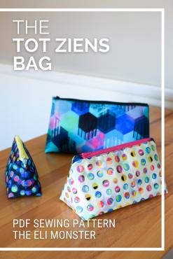the Tot Ziens Dopp Kit Sewing Pattern